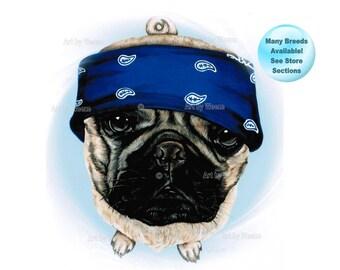 Pug - Pugs - Pug Art - Pug Painting - Pug Print - Pug Portrait - Pug Life - Pug Dog - Pet Portrait - Dog Breed Art - Dog Breeds - Weeze Mace