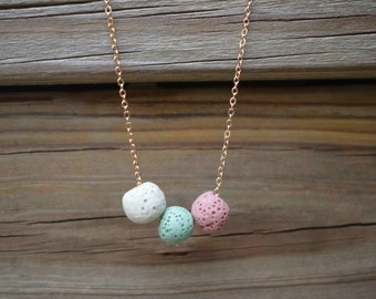 Lava bead necklace for essential oils