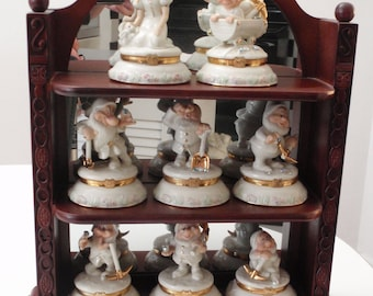 Lenox Snow White and Seven Dwarfs Treasure Boxes and Display