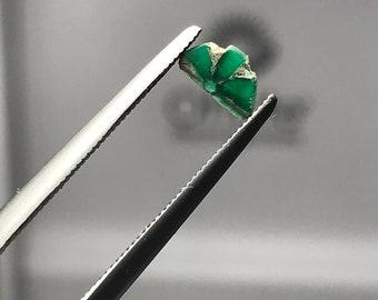 Trapiche Emerald slice Muzo Mine Colombia E0181
