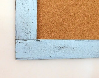 Extra LARGE BULLETIN BOARD - Framed Cork Board - 30x40 - Home Office Decor - Kid's Art Display - Shown in Pale Blue - Many Color Options