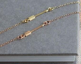 Follow Your Arrow Necklace, Arrow Necklace, Graduation Gift, School Graduation for Her, Graduation Necklace, Gold Rose Gold Arrow Necklace