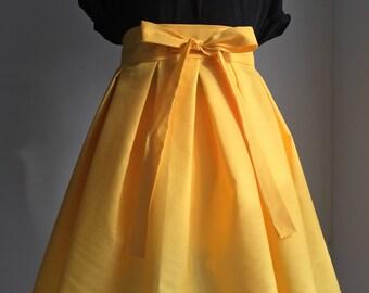 Pop Colour Pleated Skirt