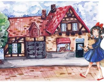 Kiki's Delivery Service 18x12 Print