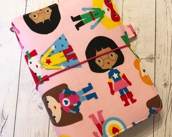 B6 Size Fabric Fauxdori -Fabric Travelers Notebook