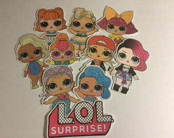 LOL Surprise Dolls Die Cuts qty: 10