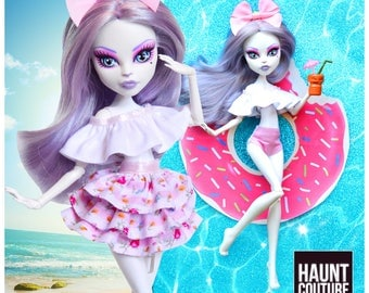 """Monster Doll Haunt Couture: """"Kitty Pool"""" dress high fashion dress clothes"""