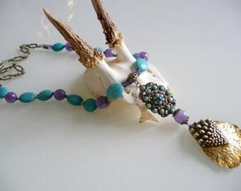 Philippine turquoise baroque necklace