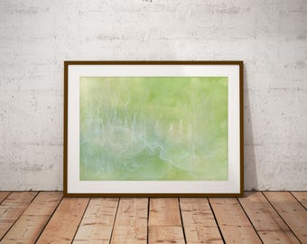Magical Shade Forest Print on Canvas or Paper, 8x12  12x18  16x24  20x30