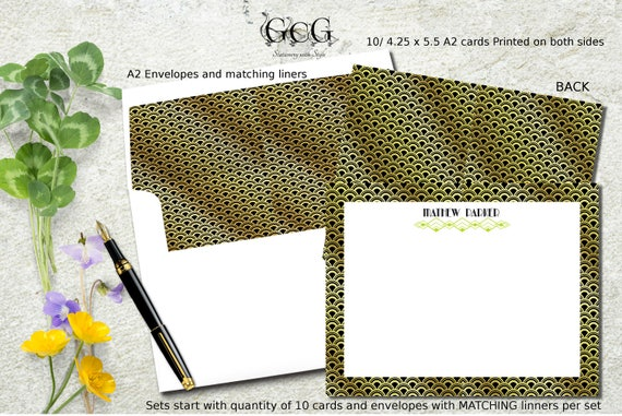 personalized stationery stationery for men stationery note cards