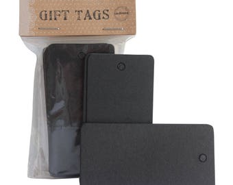 Black Paper Tag Price Label Kraft Price Place Hangtag Blank Gift Wrapping