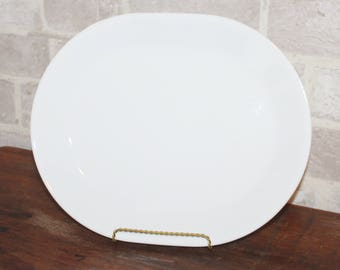 Corelle Winter Frost White 12 inch platter, white meat and serving tray platter,  white kitchens, lightweight easy storage dinnerware dishes