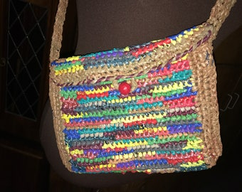 Recycled Plastic Bag Purse-Cute!