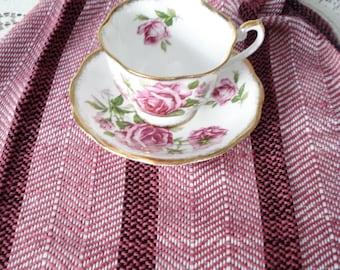 Cotton Tea Towel in Dahlia Colorway