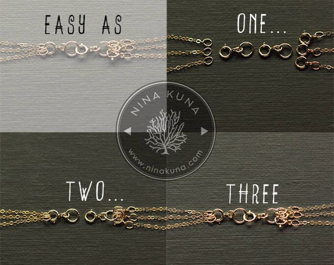 Necklace Layering Clasp - Necklace Extender - Gold Fill, Sterling Silver