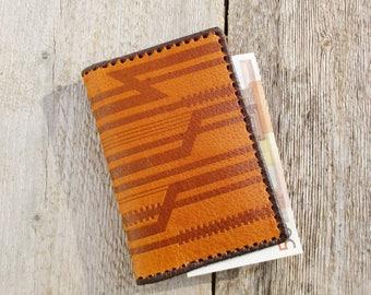 Men's Gift, Vintage Wallet, Genuine Leather Wallet, Hand Made Wallet, Embossed Wallet, Baltic Estonia 1980s NOS
