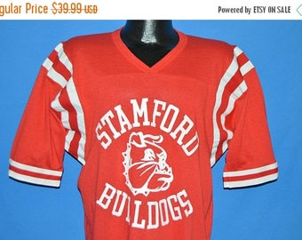 ON SALE 80s Stamford Bulldogs Football Jersey t-shirt Extra Large
