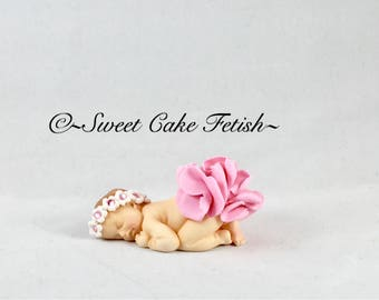 Sleeping Fondant Baby Cake topper