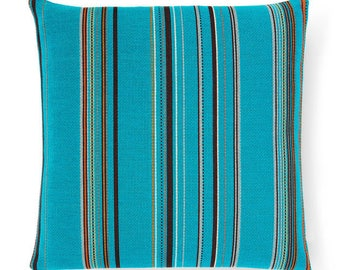 Maharam Paul Smith Point Cyan pillow cover, Stripes pillow cover, modern pillow covers, multicolor pillow covers, designer pillow cover