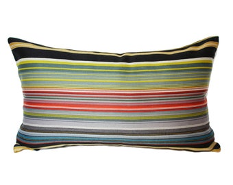 Maharam Paul Smith Stripes Reverberating  pillow, horizontal  Stripes pillow cover, modern pillow cover, designer pillow cover