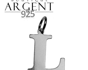 Charm letter L initial 925 sterling silver initials