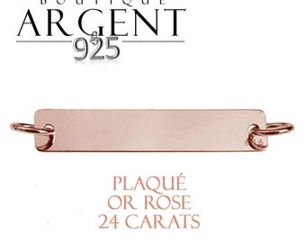 Plated in Sterling Silver 925 plated rose gold 5.8 X 37.7 mm bangles and bracelets plated Medal