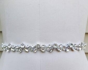 Wedding Belt, Bridal Belt, Sash Belt, Crystal Rhinestones - Style B20883RG