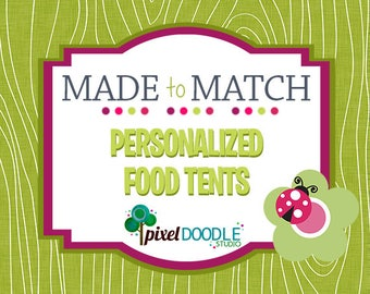 Made to Match Printable - Party Printable - Food Tents