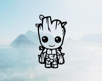 Groot Vinyl Decal <More Colors Available> <One Decal> <Decal Only> <Ships 1-3 Business Days>
