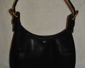 Coach Small Purse Hobo Made in US Black Leather