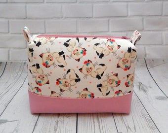 Sweet Kitty Makeup Bag