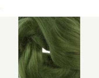 SALE Bamboo roving, 1 oz, Ivy
