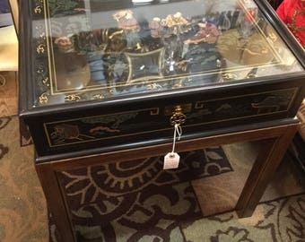Vintage Drexel Heritage Chinoiserie Style End Table Painted