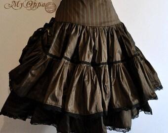 Skirt short Steampunk doll stripes My oppa