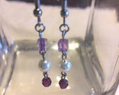Swarovski pearl earrings,...