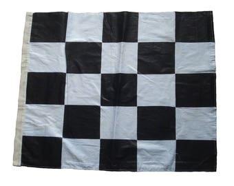 "100% COTTON Nascar Flag Black and White 22"" X 27"" The Checkered Flag"