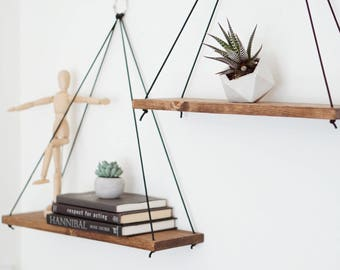 2 Hanging Shelves / Grande Shelves / Floating Shelves / Swing Shelves