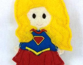 Supergirl- finger puppet-Super-Girl-Kid's car toy