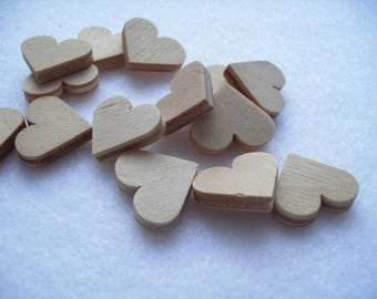 10 hearts wood, 1,8 x 1,8 cm (04-0001A)