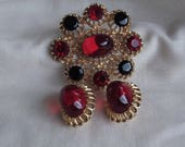 Caroline Emmons Cherries Jubilee Earrings    *Reserved for Jewelry Gal*  Vintage, Red, Black