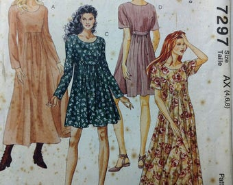 Sewing Pattern 3 Hour Dress McCall's 7297 in two lengths 5 Size with sizes within
