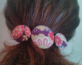 """""""Japonica"""" purple flower hair clip"""