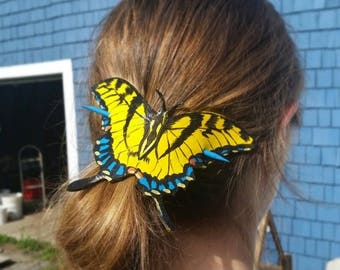 Butterfly Leather Ponytail Holder