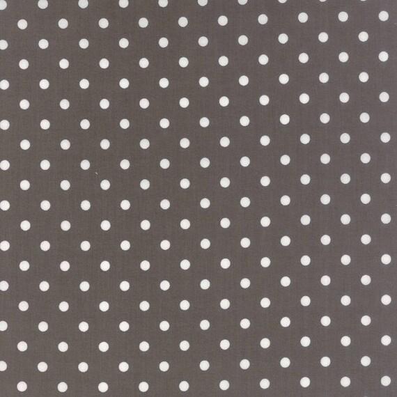 Corey Yoder Little Miss Shabby Dark Grey White Dot Quilt Fabric. 29005-23