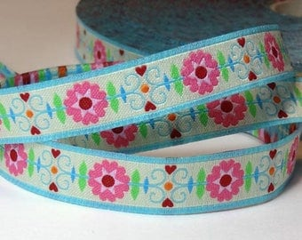 Farbenmix ribbon - Flowers (x 2 meters (sold)