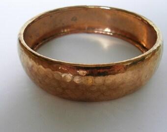 Vintage hammered copper bangle