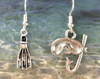Snorkel earrings on nickel free ear wires.