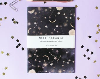 Constellations A5 Notebook with lined pages