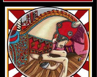 The Carousel of Utopia.25 unique illustrations, Adult Coloring Books, Adult Coloring Pages, Coloring Books for Adults,Coloring Pages,