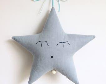 Mobile Musical Étoile Gaze Bleu Horizon - Jules Denim - Boite à musique - Une étoile dans ma cabane